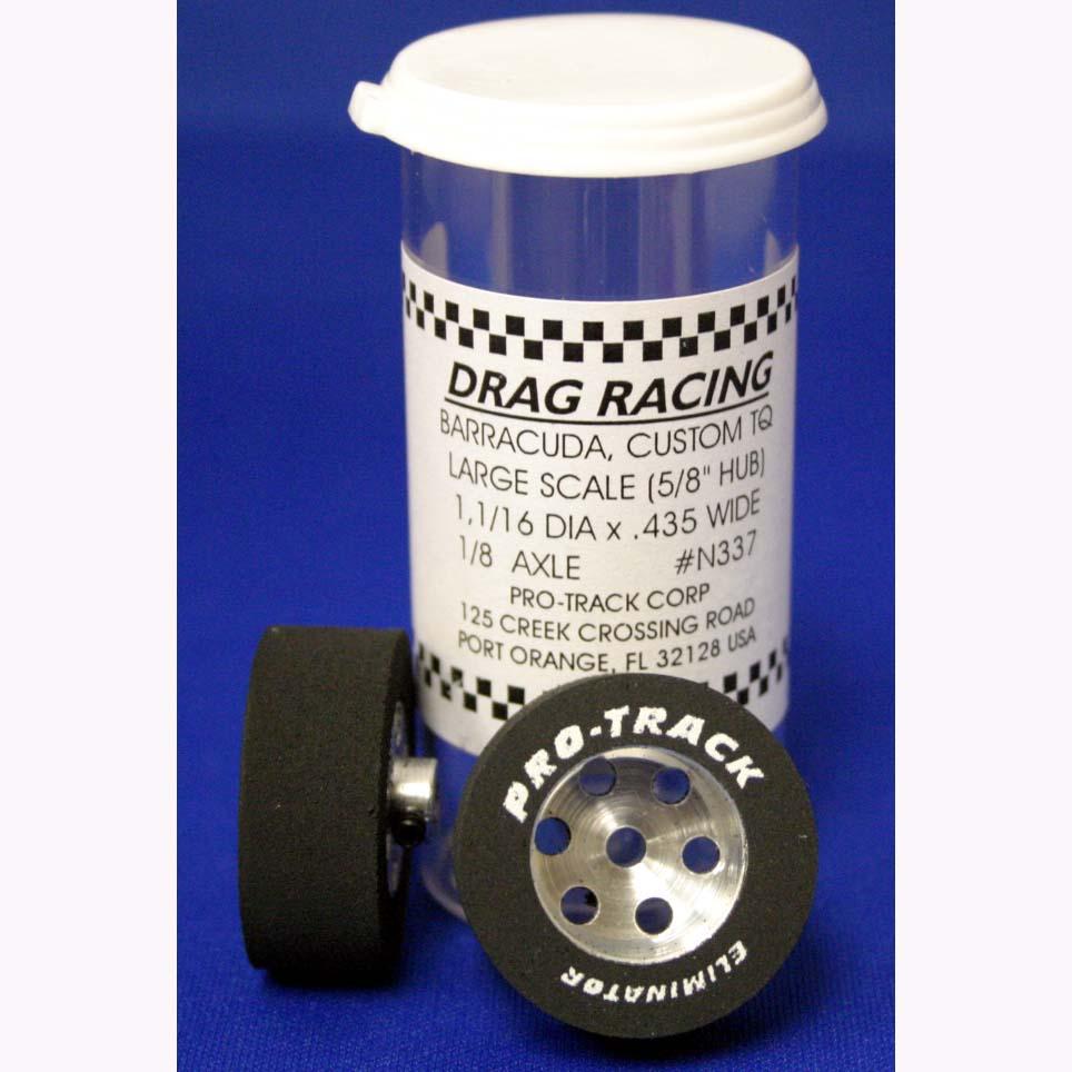 Pro Track N277 Pencil Hub Custom TQ 1.01  x 435 Rear Drag Tires from Mid America